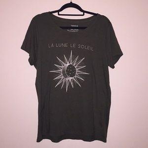 Torrid La Lune Le Soleil Tee 2x
